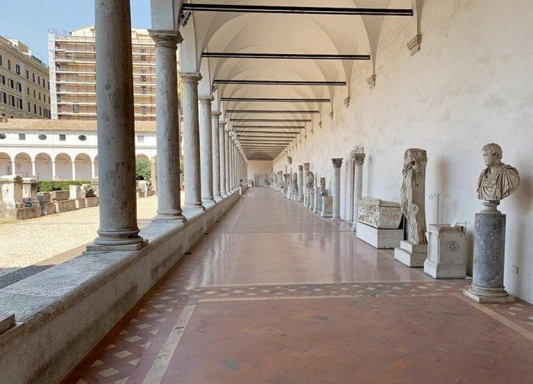 the long corridors of the museo contains the most beautiful roman time sculptures