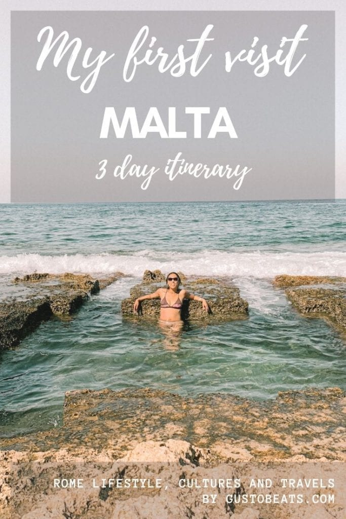 if you are traveling to malta for the first time_3 day malta itinerary_pinterest pin image