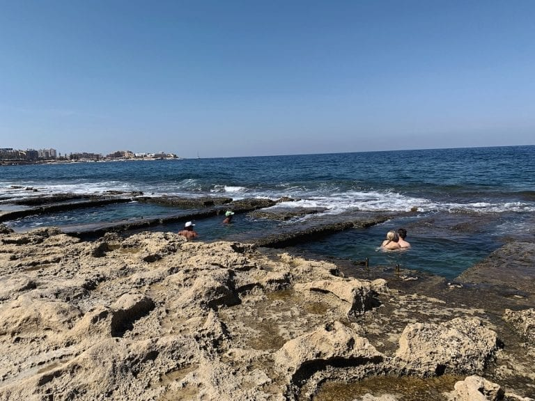 the stunning water front pools in sliema