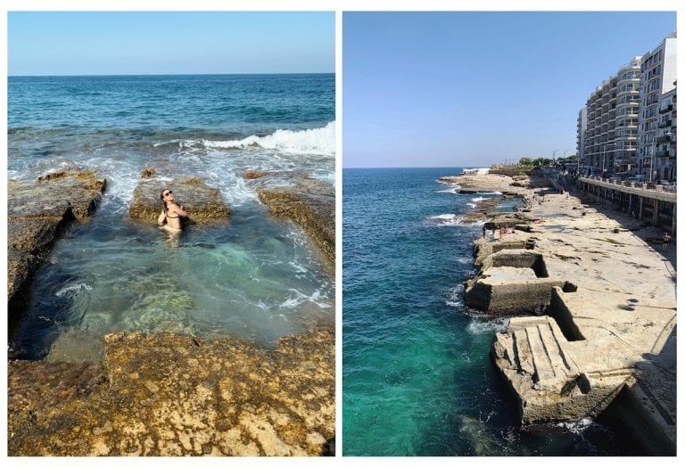 one of the most interesting experiences of malta is to try the free roman bath in sliema