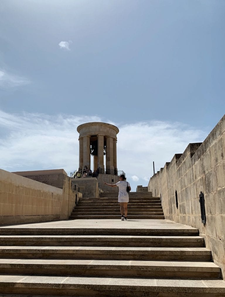 visit the bell seign in valletta and know how malta people fight and suffer during world war 2