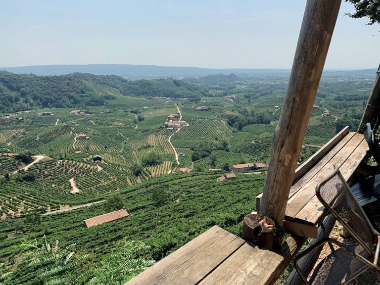 the beautiful vineyards view from valdobbiadene