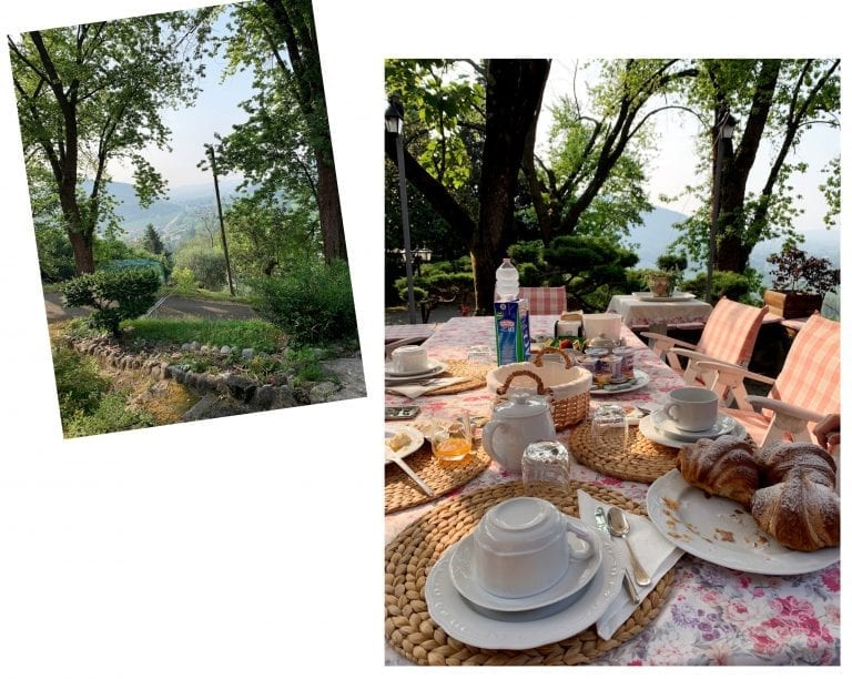 the host of B&B four winds always prepare a full table of Italian breakfast in the morning. We took it in their terrace which has a beautiful open view.