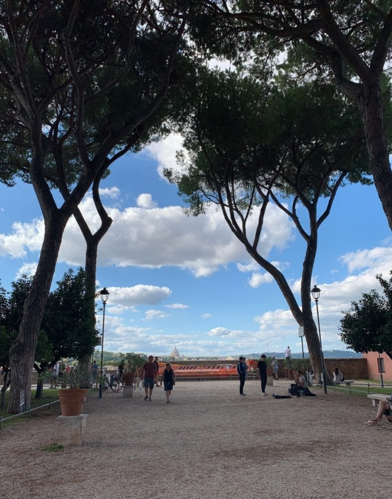 3 day rome itinerary orange garden and rome city view