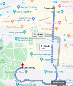 3 day rome itinerary how to reach st peter church from ottavio map