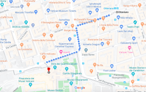 3 day rome itinerary how to reach vatican museum from ottavio map