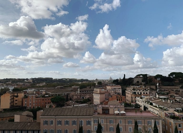 Rome city view from Palatine hill