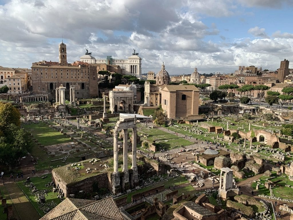 3 day rome itinerary view of Roman Forum from palatine