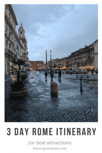 3 day rome itinerary pinterest pin photo of piazza navona