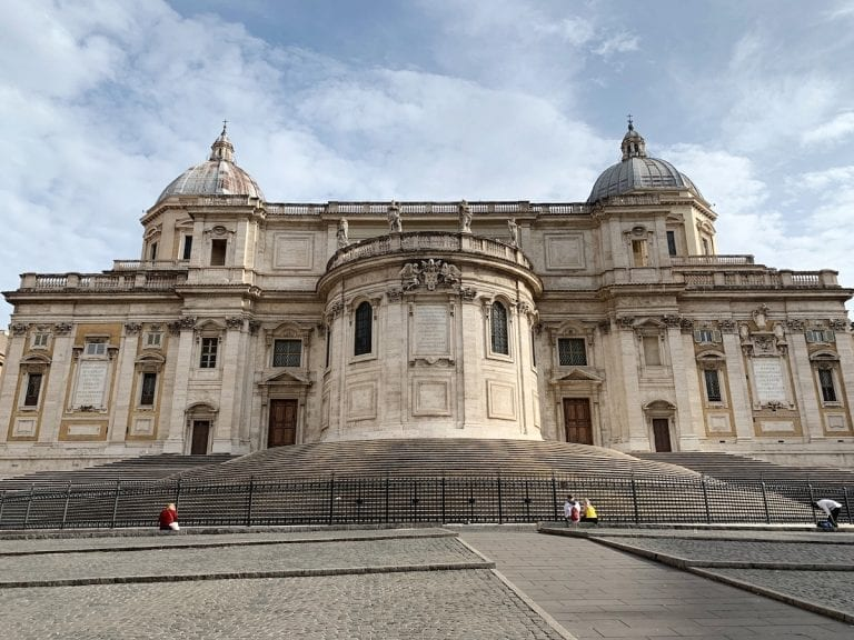 Basilica Santa Maria Maggiore near Rome central station is a huge beautiful church to visit in rome