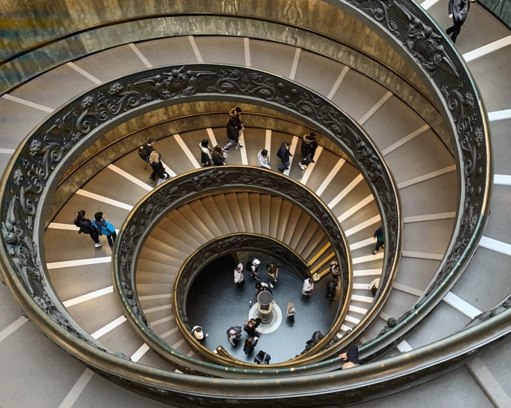3 day rome itinerary vatican museum stairs