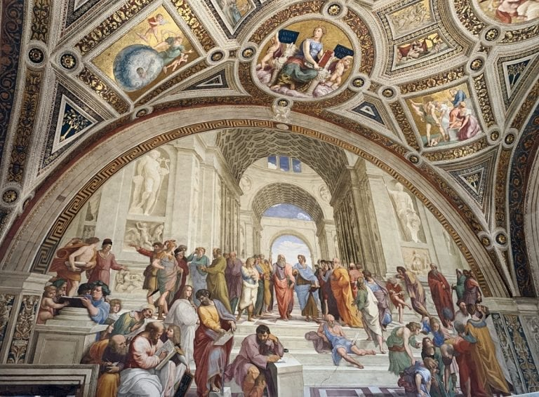 3 day rome itinerary vatican museum athen school