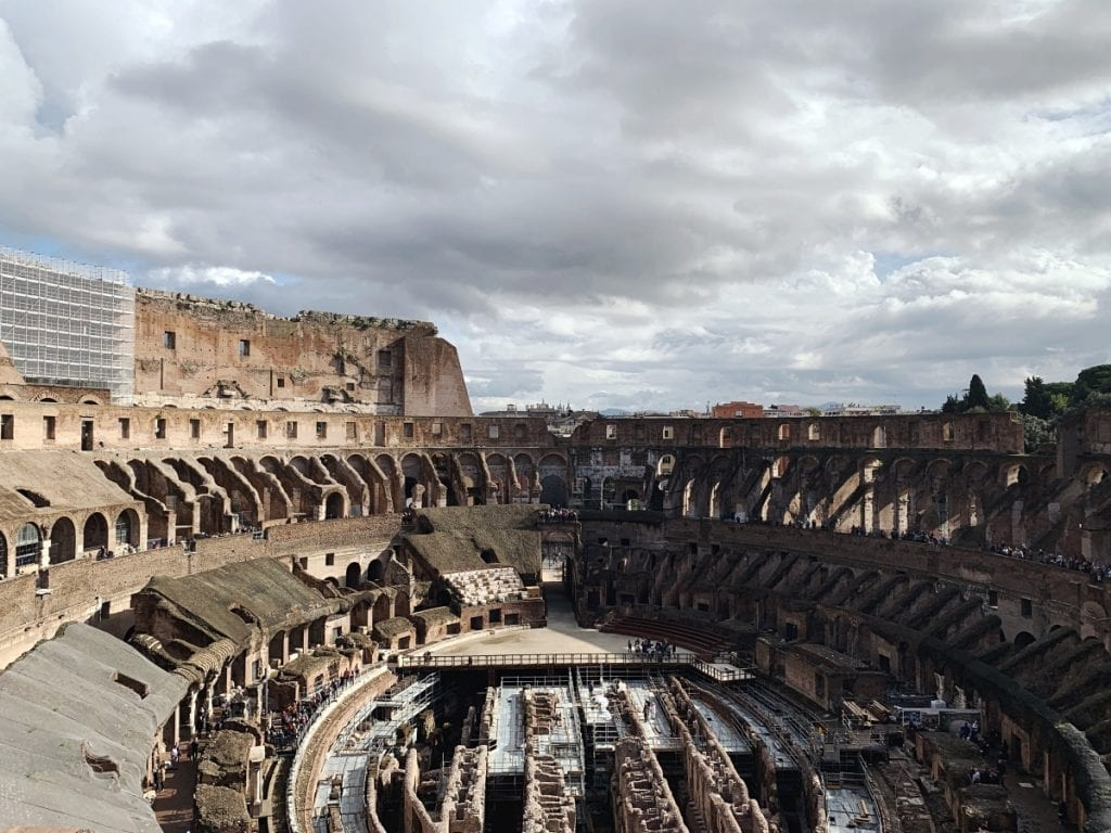 3 day rome itinerary colosseum from the third level