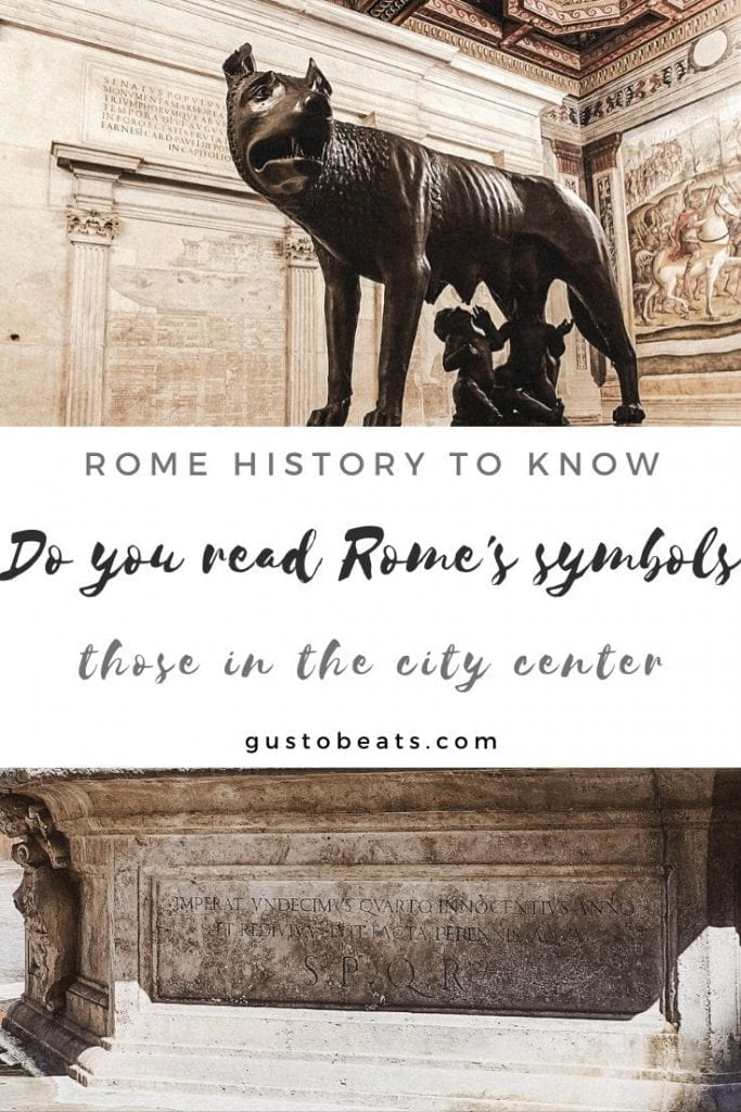 Rome guide and culture talk_Do you know Rome's symbols_pinterest pin image