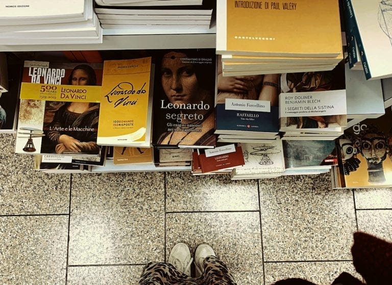 a big bookshop inside roma termini is a heaven for many people to kill the time