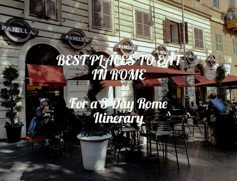 best places to eat in rome for a 3 day rome itinerary