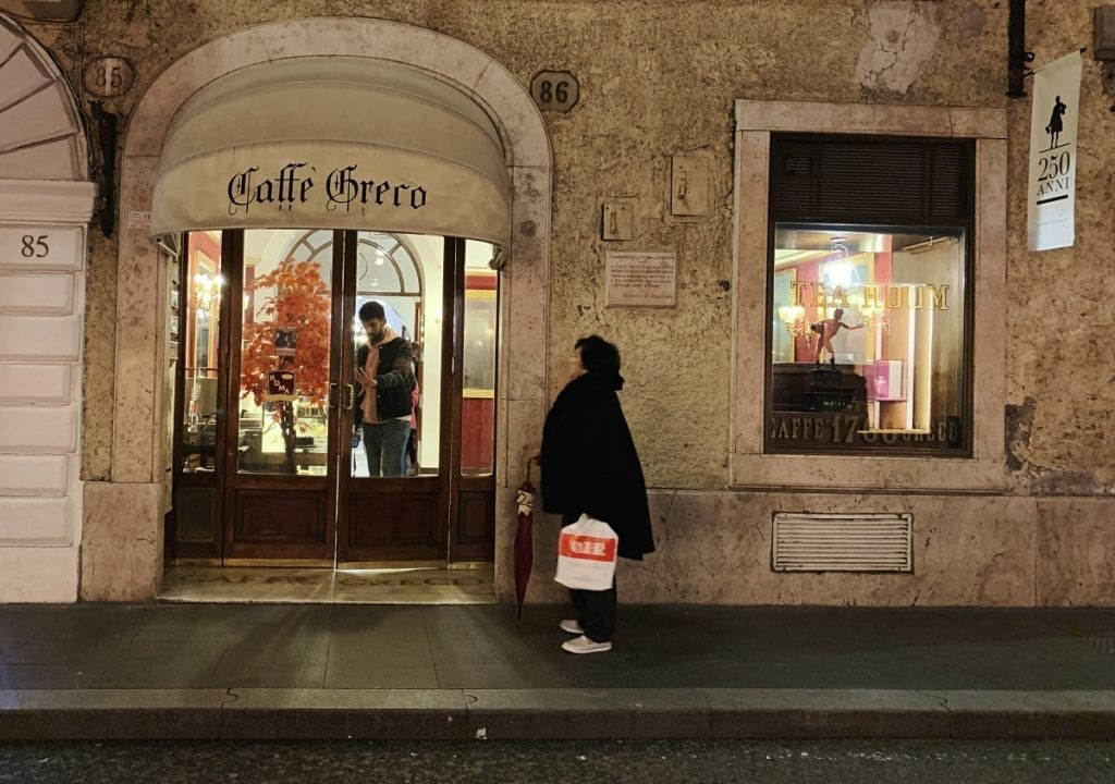 best places to eat in rome for a 3 day rome itinerary_caffe greco