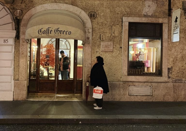 cafe greco is one of the oldest cafe in rome city center