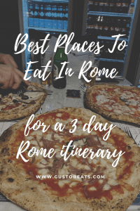best places to eat in rome for a 3 day rome itinerary_pinterest