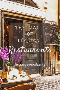 the magic of italian restaurant by shegowandering at gustobeatsPinterest Graphic