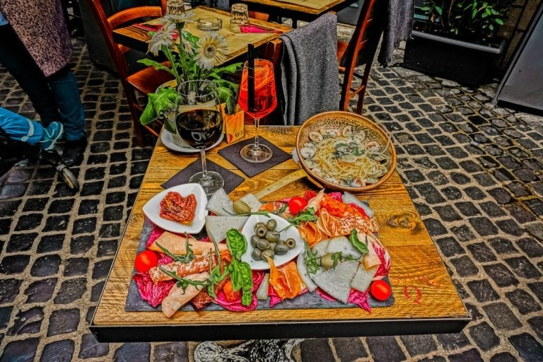Welcome table of Bistro and Wine bar Pasquino