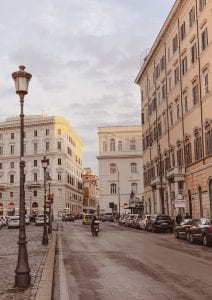 the beautiful rome streets under the golden sunset photography smartphone wallpaper as gustobeats blog freebie
