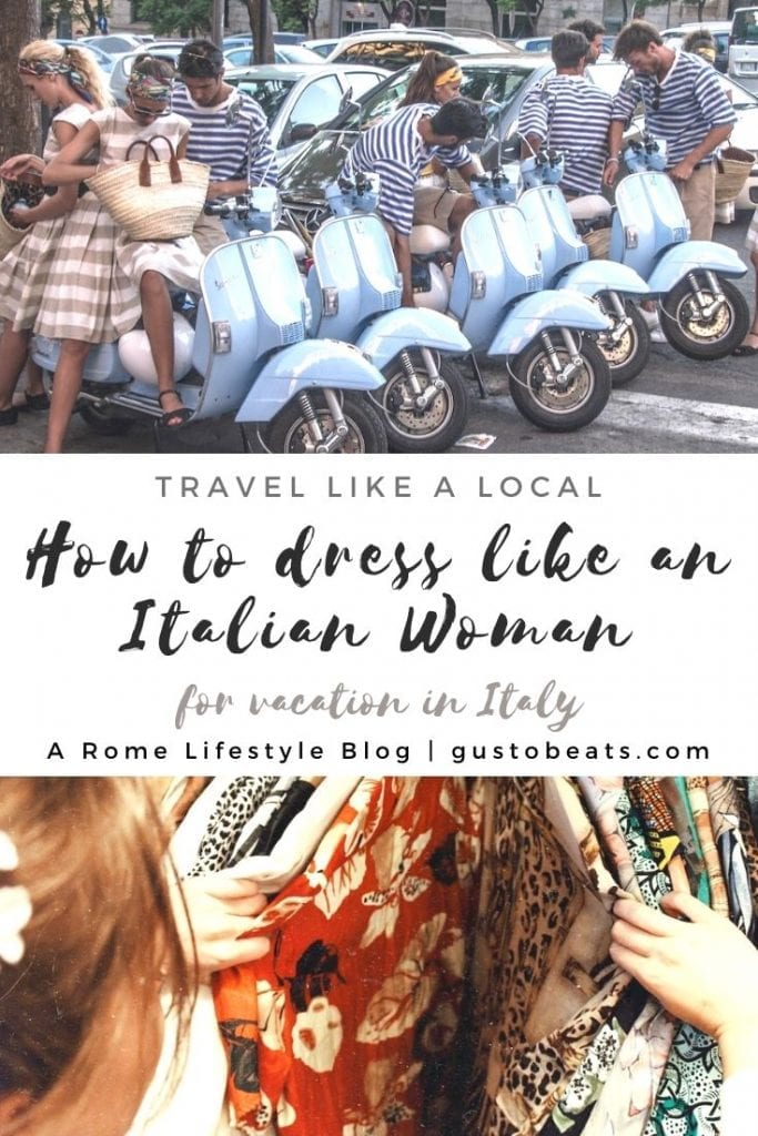 let us blend in by dressing up like an italian beauty for our italy vacations