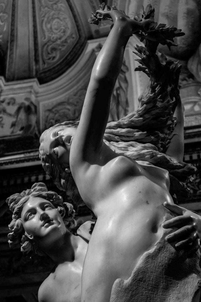 Apollo and Daphne by lorenzo bernini in galleria borghese is a must see masterpiece in rome