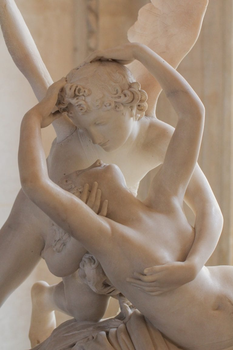 another famous sculpture by antonio cavona the angel cupido e pische now in louvre in paris