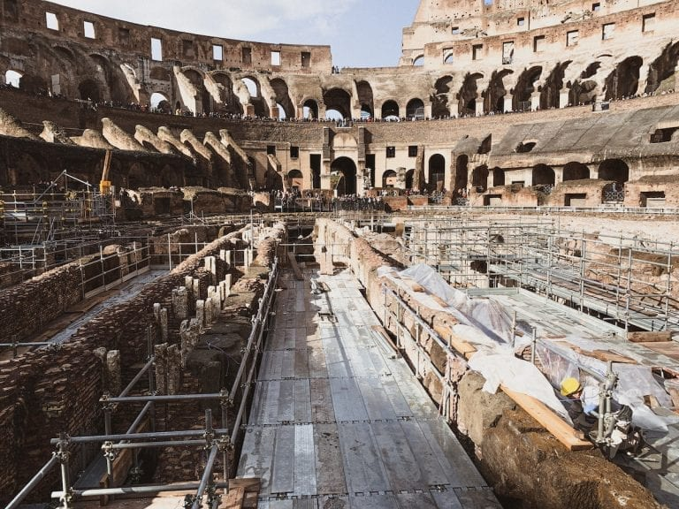 colosseum arena was removed and colosseum secrets of the underground was discovered only until late 1800s