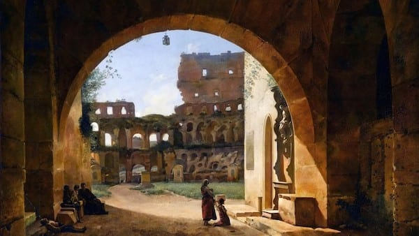 colosseum became a garden in the medieval time