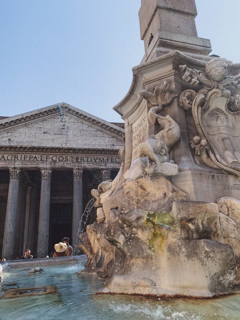 Pizza Rotonda and Pantheon is the most famous landmarks in Rome nowadays