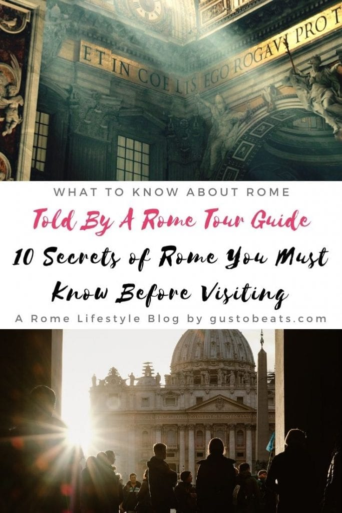 10 Secrets of Rome from a tour guide to answer your questions about ancient Rome and its history