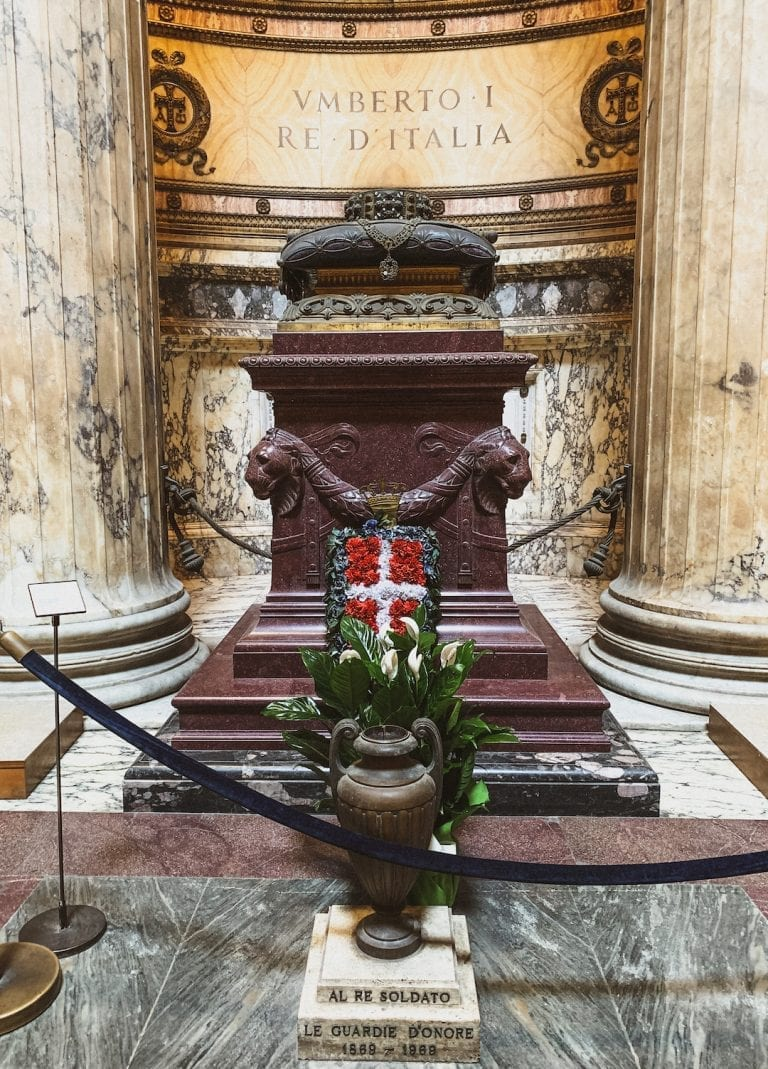 the other important tomb inside Pantheon is Italy's first King who also unites the Italy, Vittorio Emanuale
