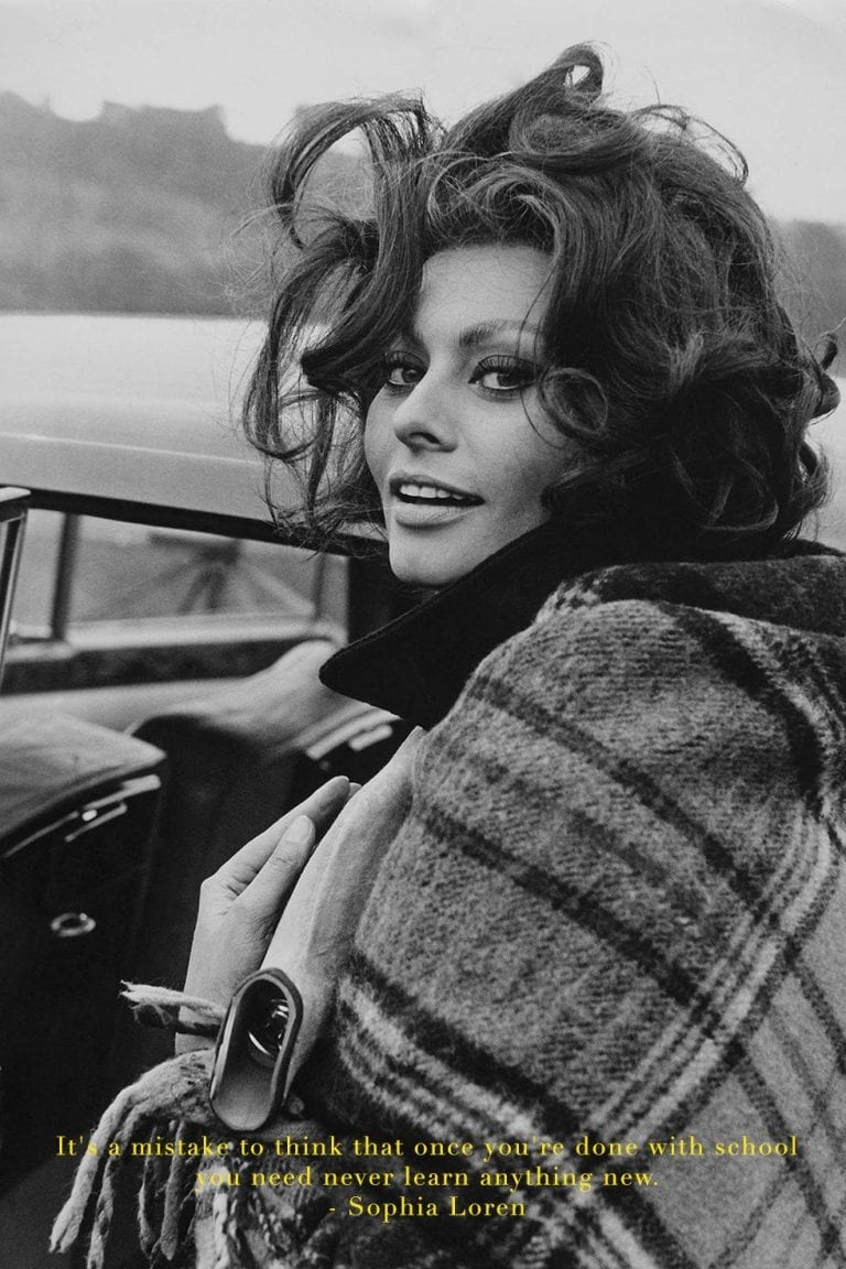 It's a mistake to think that once you're done with school you need never learn anything new by sophia loren