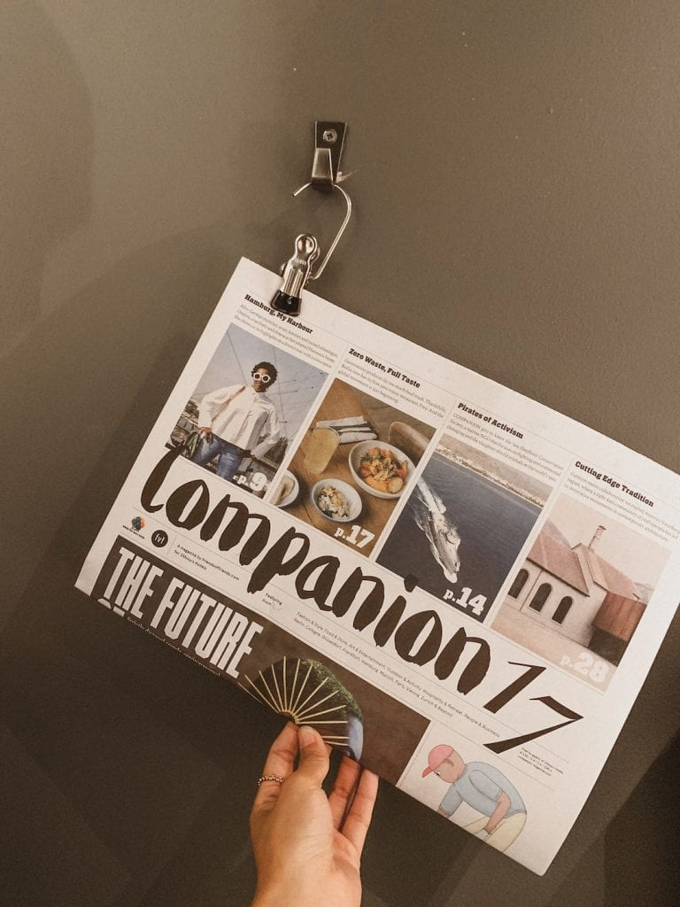 25hours hotel in hamburg has their own printed newspaper companion in the hotel room to provide community concept and local news to the guests