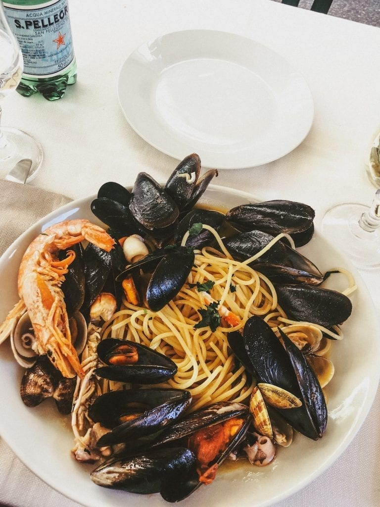 a common and popular fresh pasta dish in rome is the spaghetti with mixed shell seafood