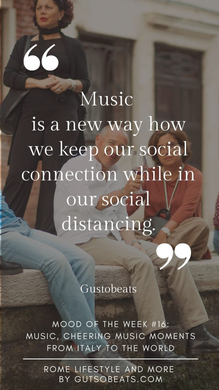 music is a new way how we keep our social connection while in social distancing and sharing a few best Italian music moments