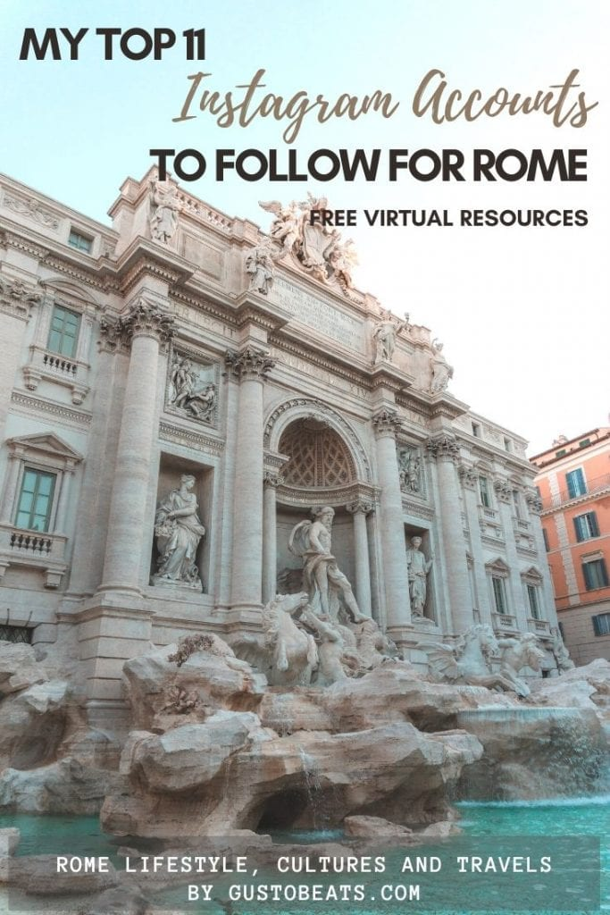 following a few valuable instagram accounts to know more about rome and its history and art as the best free virtual resource to travel in rome from home