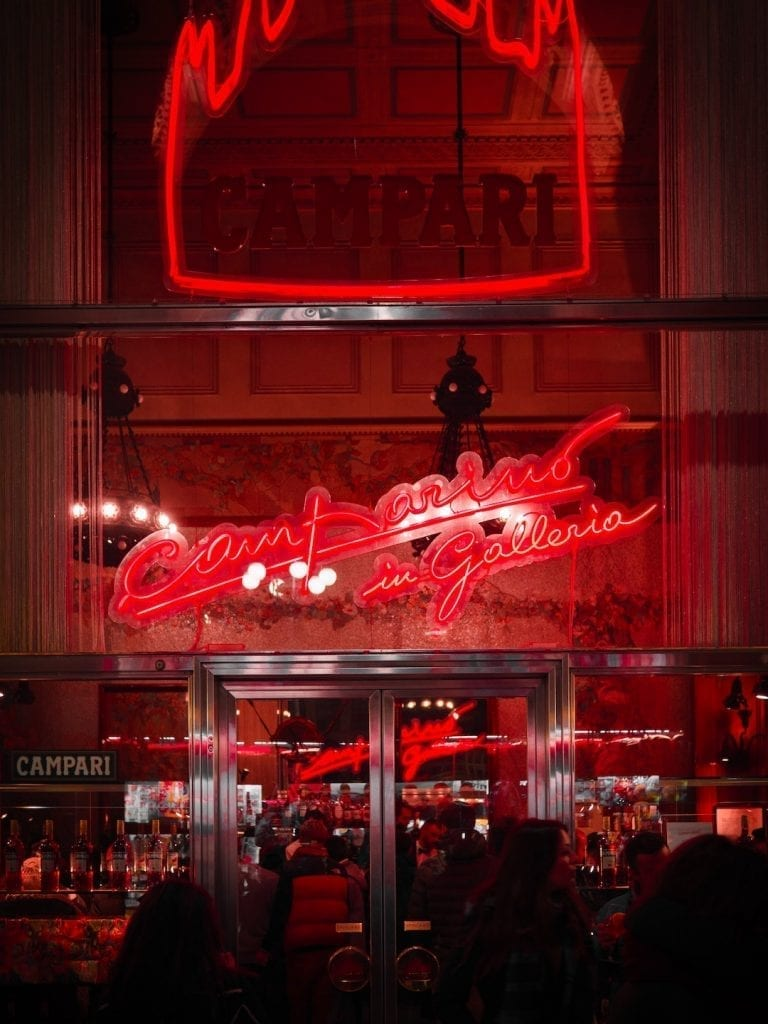 caffe campari next to milan duomo is where the classic italian cocktail americano was invented