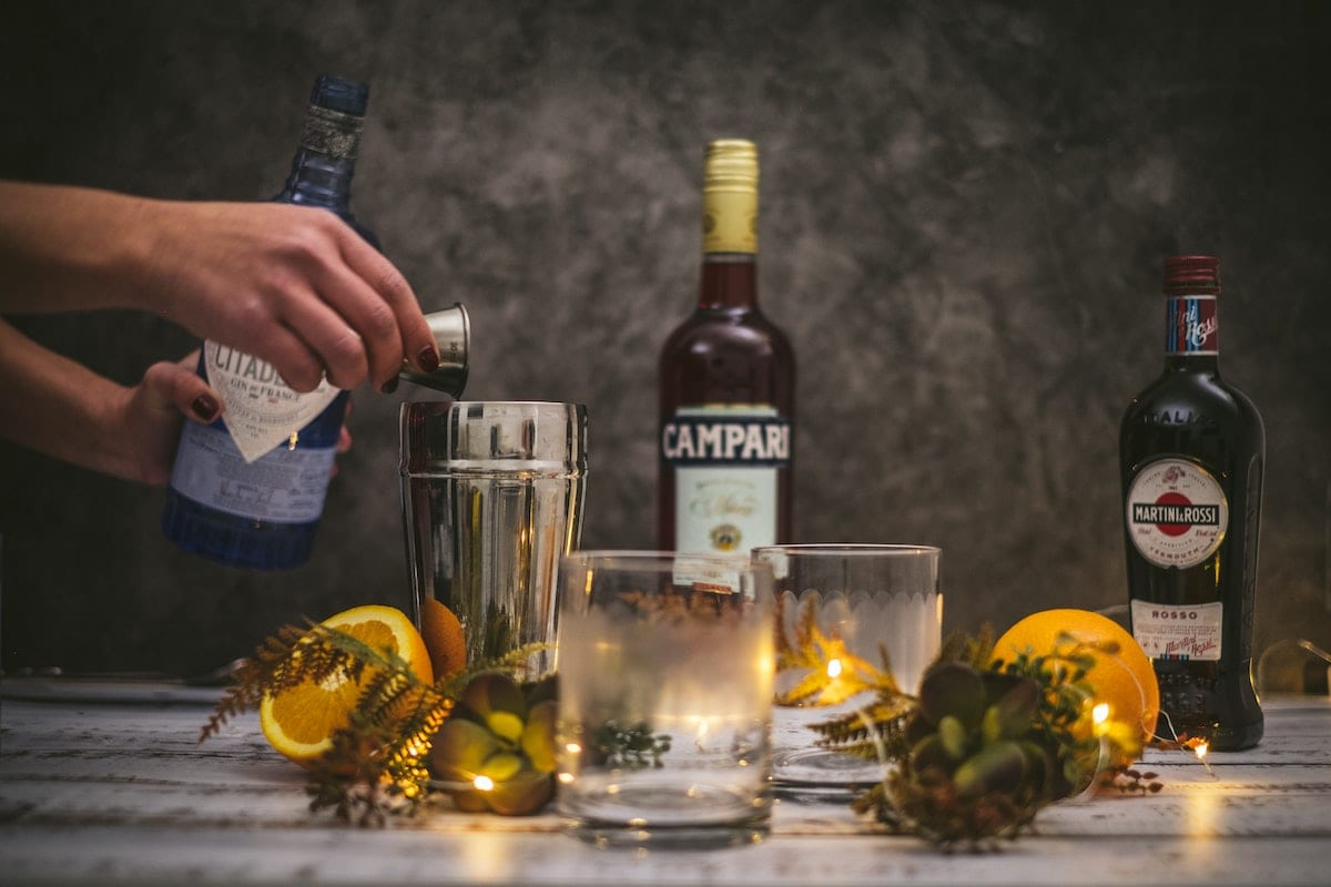 one of the most classic italian cocktails is negorni with only 3 ingredients campari vermouth and gin