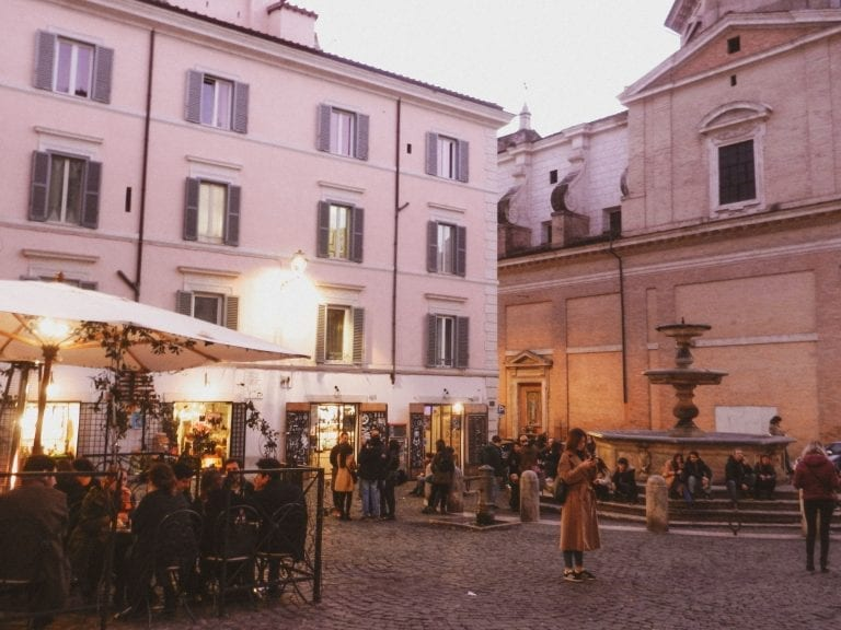 aperitivo in rome is also popular in some cute neighborhood around sunset hours