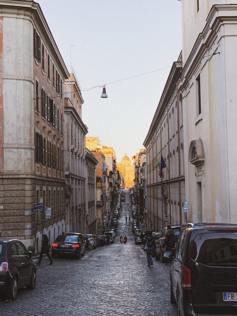 typical sunsets in rome as recorded on my instagram to show the daily rome image to whom love rome but not have a chance to come over to see by their eyes