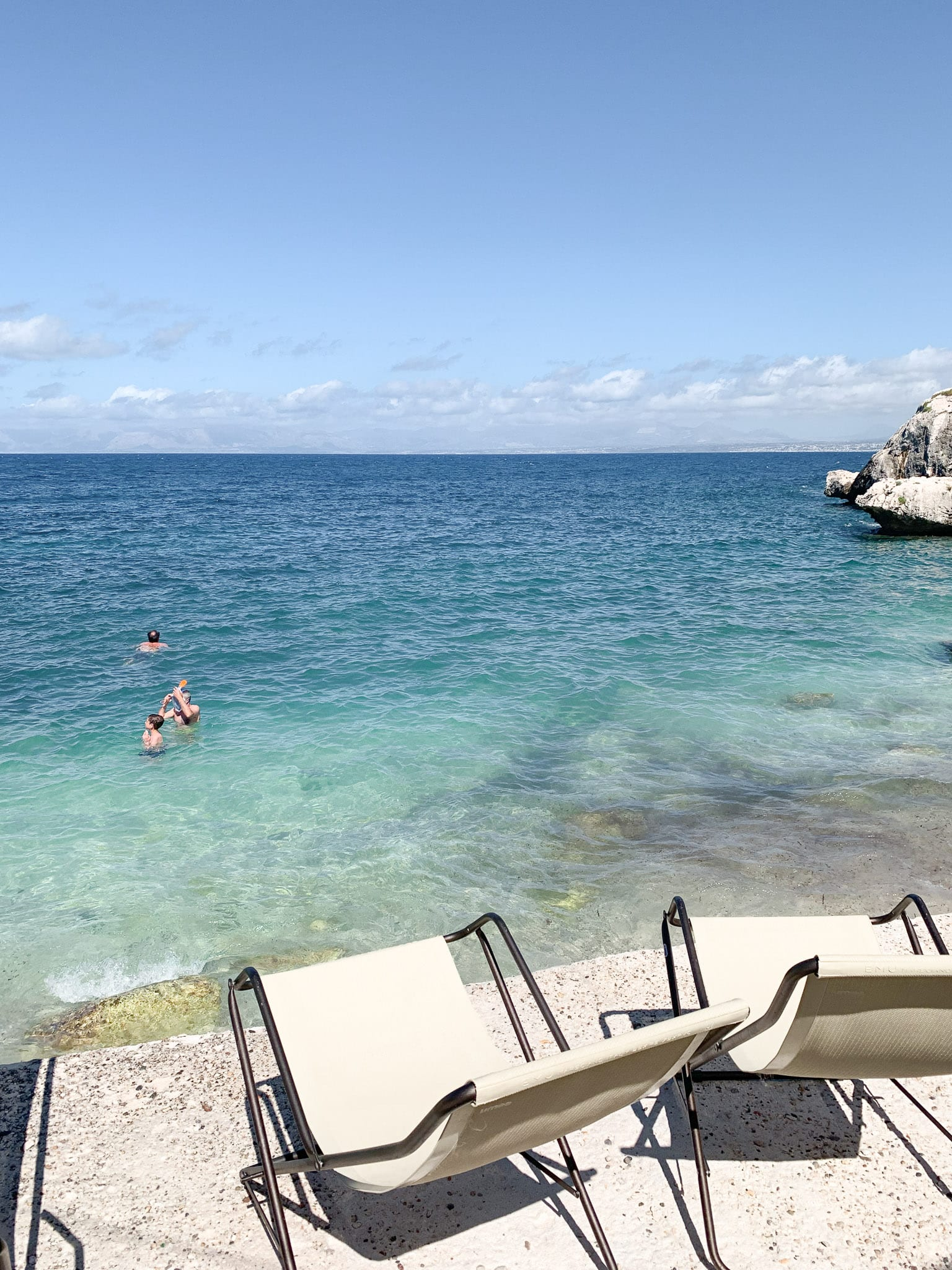 with the entry fee we have two beach chairs for the whole day staying in front of the sea inside the private property of la tonnara di scopello