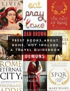 gustobeats blog post about 9 best books about rome including fictions set in ancient Rome and history books