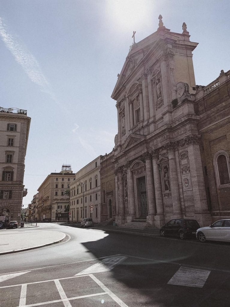 gustobeats how rome and italy feel from my visual diary june 2020 with the church and the empty square in Rome