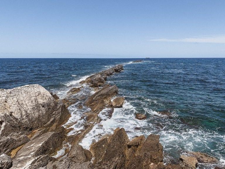 the tip of Trapani land is where Tyrrhenian sea meats Mediterranean sea