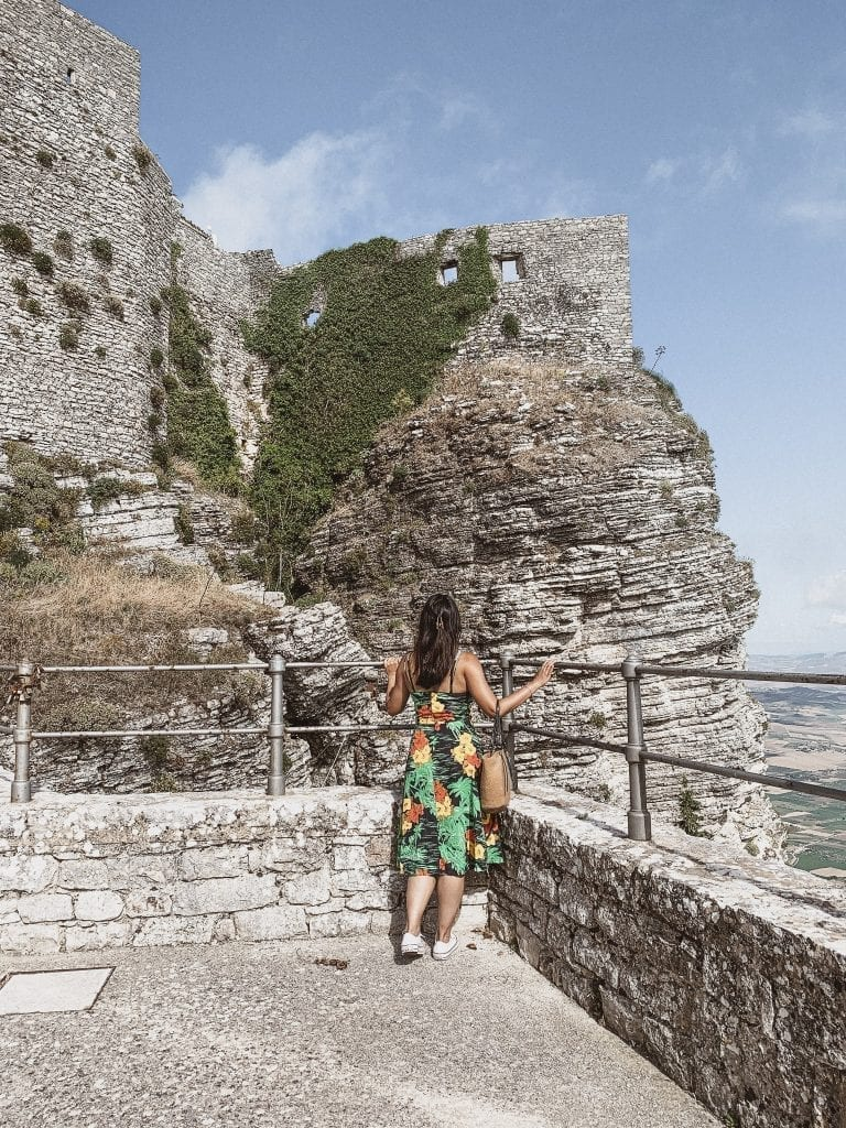 Erice is a small stone city on the mountain near Trapani and it is a perfect day trip optioin to escape the heat