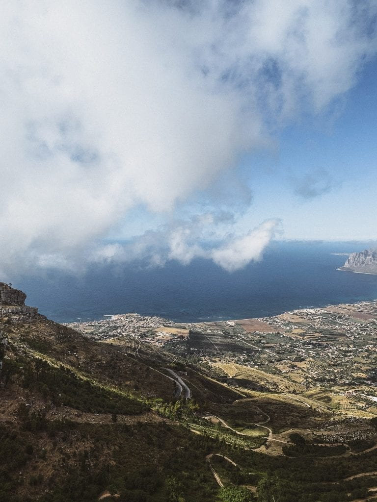 from Erice city you can have a view of Trapani and the sea