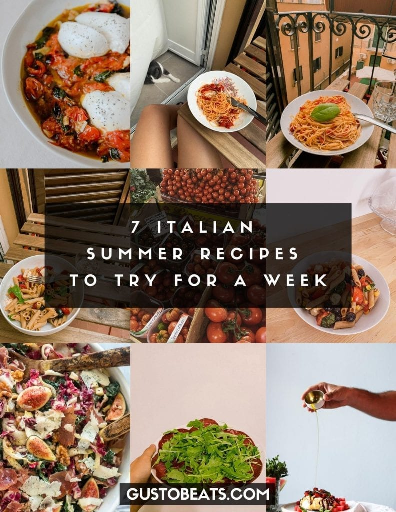 7 simple and fast Italian summer recipes almost without cooking but healthy, delicious and in the authentic Italian way